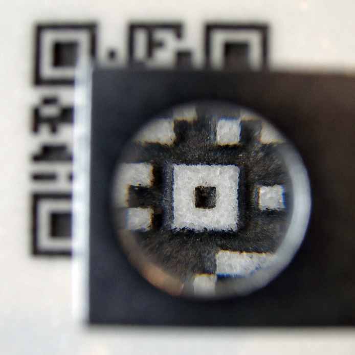 qr-code engraved in stone