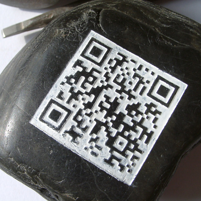 QR-code in stone - for eternity